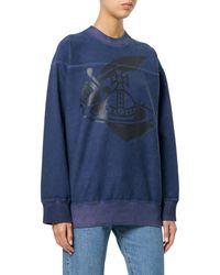 Vivienne Westwood - Women's Blue Cotton Sweatshirt - Lyst