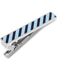 Ox and Bull Trading Co. - Varsity Stripes Tonal Blue Tie Clip - Lyst