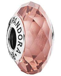 PANDORA - Fascinating Blush Silver Crystal Charm - Lyst