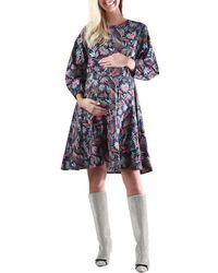 Madeleine Maternity - Cancun Printed Shift Dress - Lyst