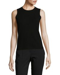 Saks Fifth Avenue Black - Knitted Top - Lyst