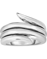 Jewelry Affairs - Sterling Silver Fancy Graduated Vine Ring, Size 7 - Lyst