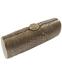 Nada Sawaya - Raissa Python Long Box Clutch Bag - Lyst