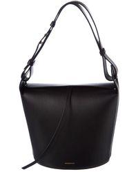 Burberry - Medium Leather Bucket Bag - Lyst