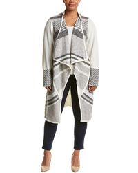NYDJ - Plus Hybrid Fairisle Car Coat - Lyst