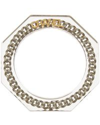Chanel - Silver-tone Lucite Chain Bangle - Lyst