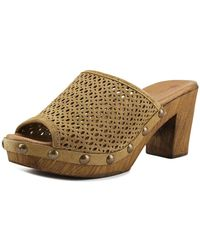 Eric Michael - Marlee Peep-toe Synthetic Mules - Lyst