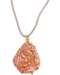Saachi | Druzy Pendant Necklace | Lyst