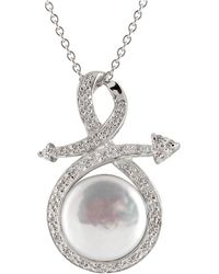 Splendid - Coin Pearl Cz Fancy Pendant - Lyst