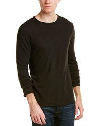 Vince - Raw Edge Linen-blend T-shirt - Lyst