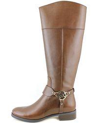 f12445811c2 MICHAEL Michael Kors - Womens Fulton Harness Leather Closed Toe Knee High  Fashi.
