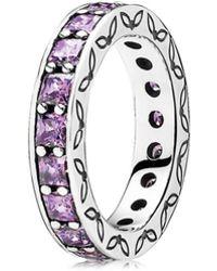 PANDORA - Silver Cz Infinity Ring - Lyst