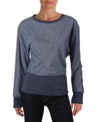 William Rast - Womens Striped Contrast Trim Sweatshirt - Lyst
