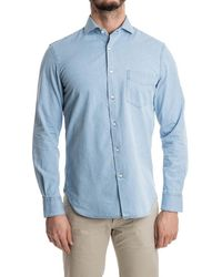 Aspesi - Men's Light Blue Cotton Shirt - Lyst