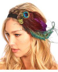Kristin Perry - Peacock Spray Fascinator - Lyst