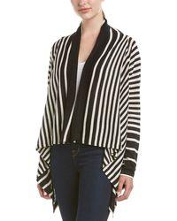 NYDJ - Striped Linen-blend Cascade Cardigan - Lyst