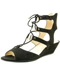 5bbaff4abcb3 INC International Concepts - Womens Mandie Fabric Open Toe Casual Strappy  Sandals - Lyst