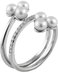 Splendid - Fancy White Freshwater Pearl Cluster Ring - Lyst