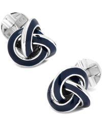 Ox and Bull Trading Co. - Sterling Blue Enamel Knot Cufflinks - Lyst