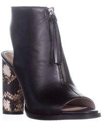French Connection - Uttara Peep Toe Mule Court Shoes, Black - Lyst