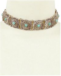 Sparkling Sage - Plated Resin Choker Necklace - Lyst