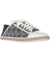 Michael Kors - Michael Kristy Slide Heel Cap Espadrille Sneakers - Ivory/denim - Lyst