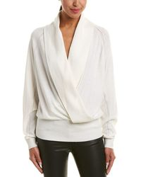 Reiss - Blanche Wool-blend Wrap Jumper - Lyst