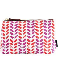 Maika - Leaves Print Zipper Pouch, Large - Lyst