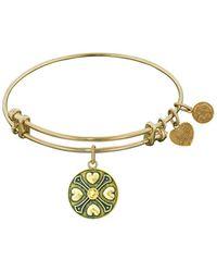 Angelica - Finish Brass November Birthstone Bangle Bracelet, 7.25 - Lyst