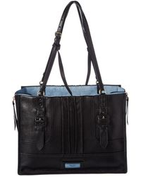 Prada - Etiquette Large Glace Leather Tote - Lyst