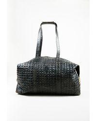 5514be7e30c6 Fendi - 1 Vintage Gray Leather Croc Embossed Top Handle Duffel Bag - Lyst