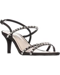 Caparros - Christine Rhinestone Strappy Sandals, Black - Lyst