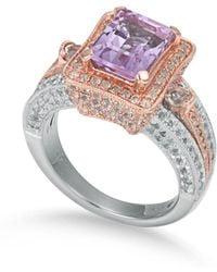 Suzy Levian - Sterling Silver Purple Amethyst 5.2 Cttw Ring - Lyst