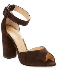Charlotte Olympia - Eugenie Suede Sandal - Lyst