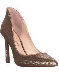 Jessica Simpson - Parma Dress Court Shoes, Gold/karat Gold - Lyst