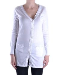 Massimo Rebecchi - Women's White Cotton Cardigan - Lyst