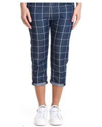 Manila Grace - Women's Blue Cotton Pants - Lyst