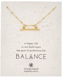 Dogeared - Balance Collection 14k Over Silver Necklace - Lyst