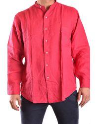 Z Zegna - Men's Mcbi319004o Red Linen Shirt - Lyst