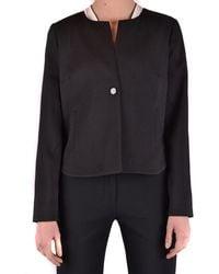 Armani Jeans - Women's Black Viscose Blazer - Lyst