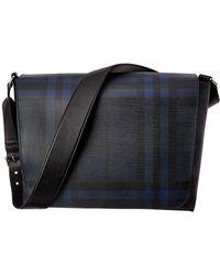 Burberry - Large London Check Messenger Bag - Lyst