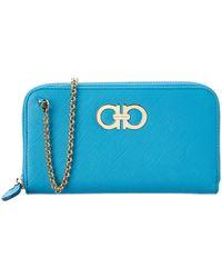 Ferragamo | Double Gancio Leather Continental Wallet On Chain | Lyst
