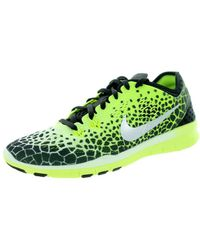 c50f537680ca6 Lyst - Nike Free 5 Tr Fit 5 Prt Women Round Toe Synthetic Red Cross ...