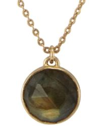 Melinda Maria - 18k Plated Labradorite Necklace - Lyst