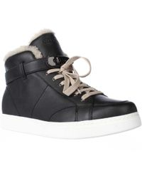 COACH - Richmond Fleece Lined High Top Fashion Sneakers - Black/natural - Lyst
