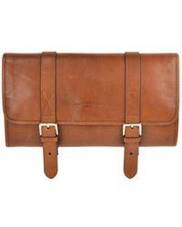 Brunello Cucinelli - Men's Brown Leather Travel Fold Up Garment Bag - Lyst
