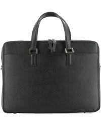 Serapian | Men's Black Leather Handbag | Lyst