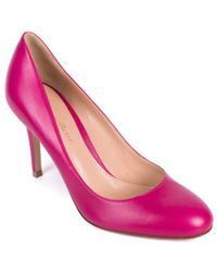 Gianvito Rossi - Hot Pink Smooth Leather Almond Toe Pumps - Lyst