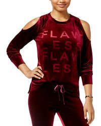 Material Girl - Womens Velour Open Shoulder Pullover Top - Lyst