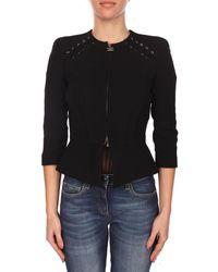 Elisabetta Franchi - Women's Black Viscose Jacket - Lyst